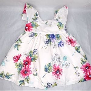 Baby Gap 2 piece floral cotton dress